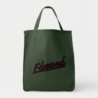 Edmond in magenta grocery tote bag