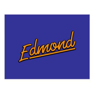 Edmond in orange postcard