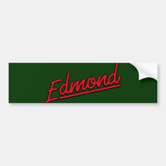 Edmond in red bumper sticker