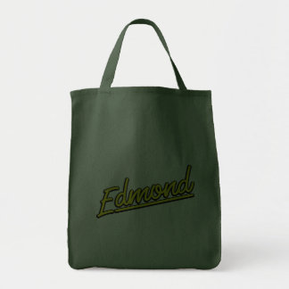 Edmond in yellow grocery tote bag