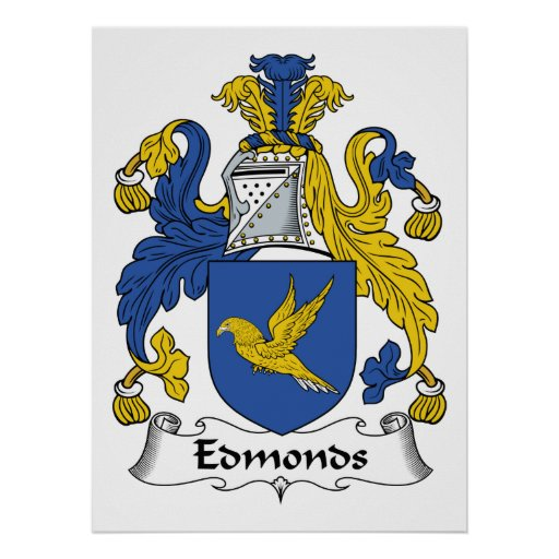 Edmonds Family Crest Poster