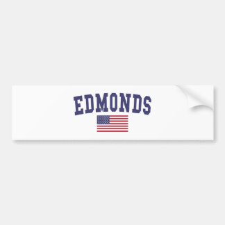 Edmonds US Flag Bumper Sticker