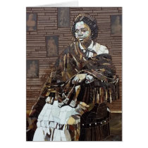 """""""Edmonia Lewis"""" stained glass mosaic design Card"""