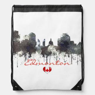 EDMONTON, ALBERTA, CANADA SKYLINE - DRAWSTRING BAG
