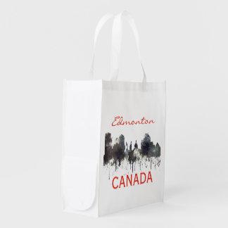 EDMONTON, ALBERTA, CANADA SKYLINE - GROCERY BAG
