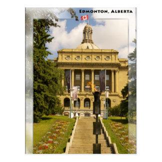 Edmonton Alberta legislature postcard