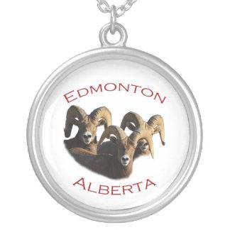 Edmonton, Alberta Round Pendant Necklace