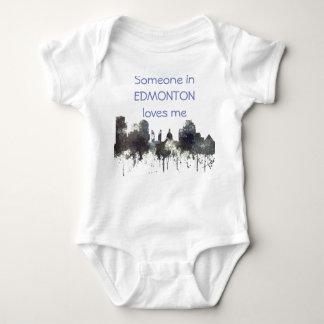 Edmonton Alta. Skyline-CRISP Baby Bodysuit