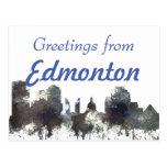 Edmonton Alta. Skyline-CRISP Postcard