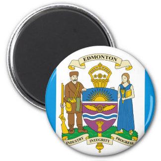 Edmonton, Canadá Imán Redondo 5 Cm