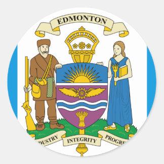 Edmonton, Canadá Pegatina Redonda