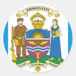 Edmonton, Canadá Pegatinas Redondas