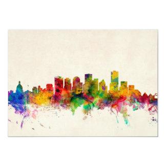 Edmonton Canada Skyline Cityscape Personalised Invitation