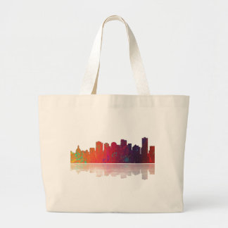 Edmonton Canada Skyline Large Tote Bag