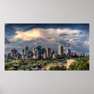 Edmonton, Canada skyline Poster