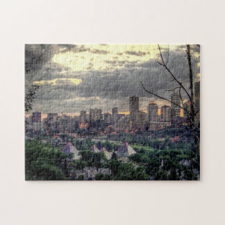 Edmonton Canada Skyline Jigsaw Puzzles