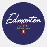 Edmonton Script Classic Round Sticker