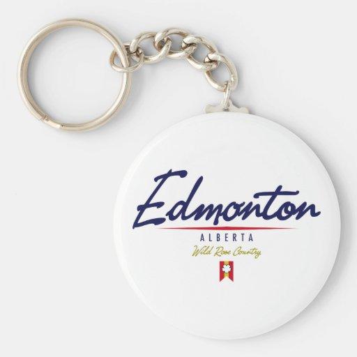 Edmonton Script Keychains