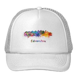 Edmonton skyline in watercolor trucker hat