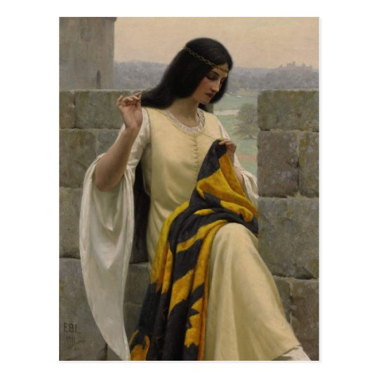 Edmund Blair Leighton Seamstress Postcard