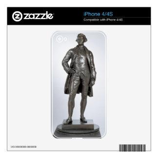 Edmund Burke (1729-97) 1865 (bronze) iPhone 4 Decal