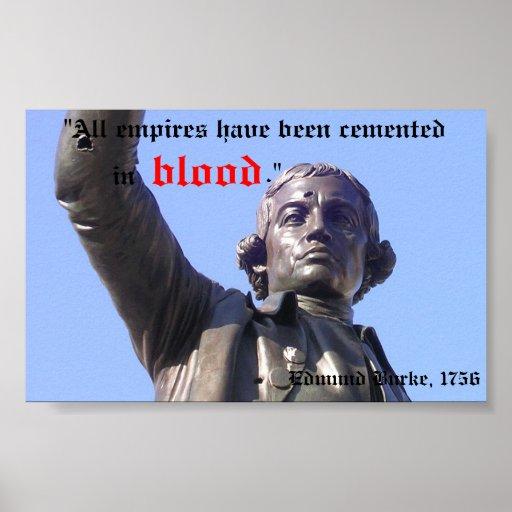 Edmund Burke, anarquista Poster