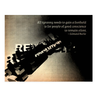 Edmund Burke Quote Postcard