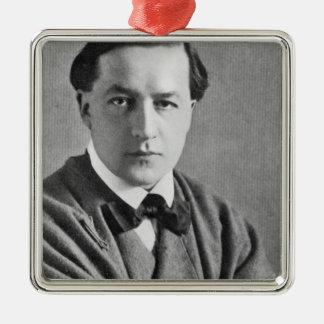 Edmund Dulac, 1915 Square Metal Christmas Ornament