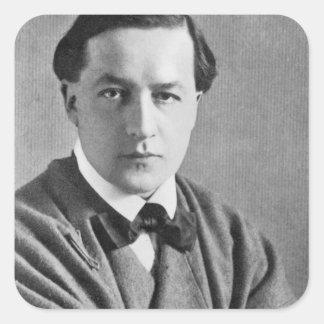 Edmund Dulac, 1915 Pegatina Cuadrada