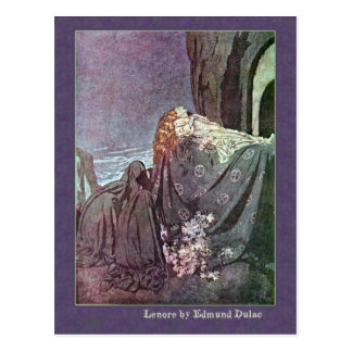 Edmund Dulac Illustrates Edgar Allan Poe Postcard
