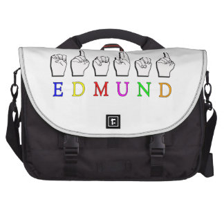EDMUND FINGERSPELLED ASL NAME MALE LAPTOP BAGS