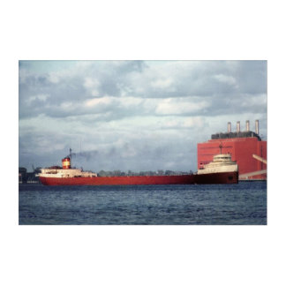 Edmund Fitzgerald Vintage Maritime Great Lakes Acrylic Wall Art