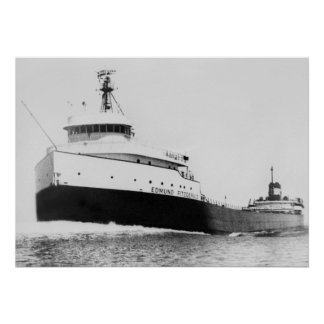 Edmund Fitzgerald Vintage Maritime Great Lakes Poster