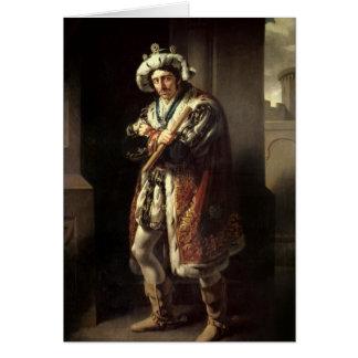 Edmund Kean  as Richard III, 1814 Card