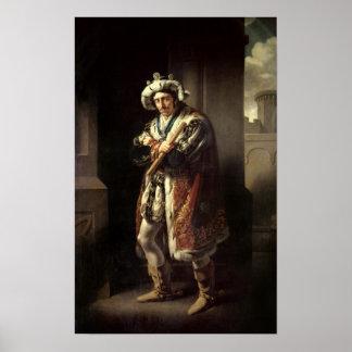 Edmund Kean  as Richard III, 1814 Print