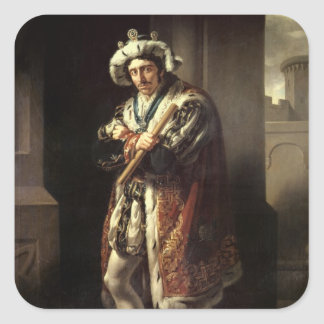 Edmund Kean  as Richard III, 1814 Square Sticker