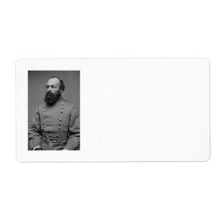 Edmund Kirby Smith Portrait American Civil War Label