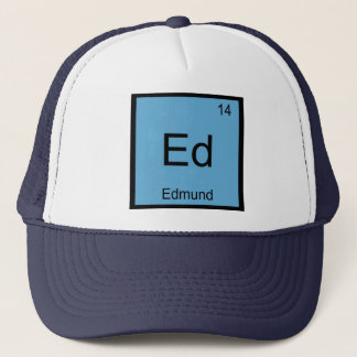 Edmund Name Chemistry Element Periodic Table Trucker Hat