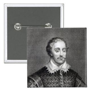 Edmund Spenser, engraved by Burnet Reading Pinback Button