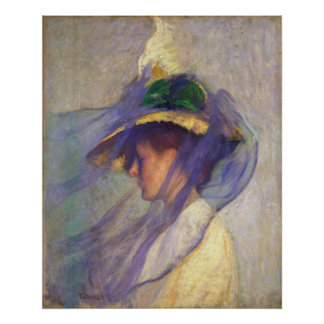 Edmund Tarbell - The Blue Veil Poster