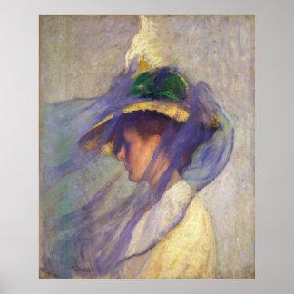 Edmund Tarbell - The Blue Veil Print