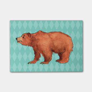 Edmund the bear post-it notes