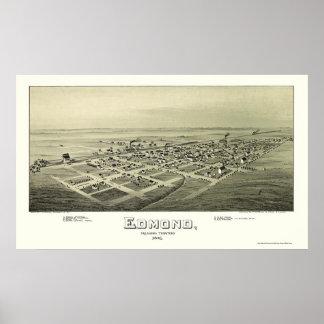 Edmundo, mapa panorámico de la AUTORIZACIÓN - 1891 Poster
