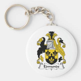 Edmunds Family Crest Key Chain
