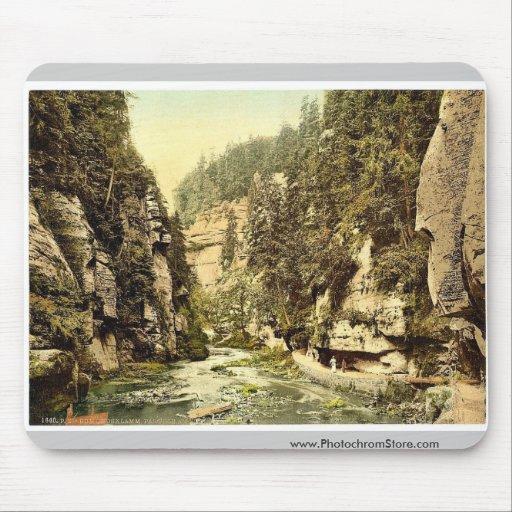 Edmunds Klamm, Bohemian Switzerland, Bohemia, Aust Mousepad
