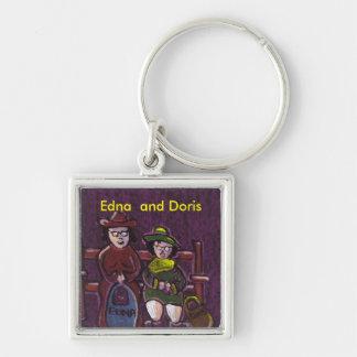 Edna and Doris Keychain