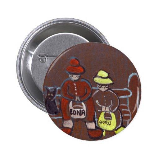 Edna Doris and Trevor 2 Inch Round Button