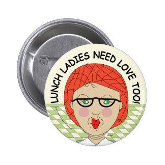 Edna la señora Cartoons del almuerzo Pin Redondo De 2 Pulgadas