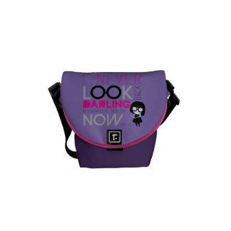 Edna Mode - I Never Look Back Courier Bag