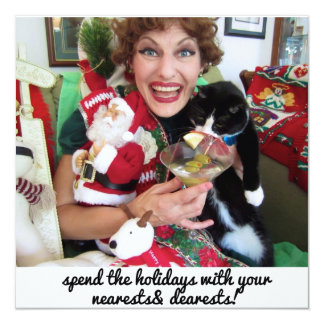 "Edna Sparklebreight's Holiday Card 5.25"" Square Invitation Card"